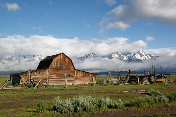 Grand Teton National Park, Tetons, Mormon Row, mountains, landscape, barn