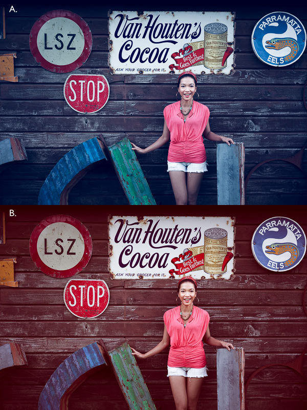 How to create the vintage look in Lightroom