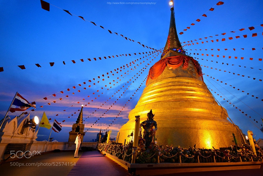 Photograph Sunrise : The Golden Mount in Bangkok by noomplayboy  on 500px