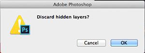 Discard hidden image