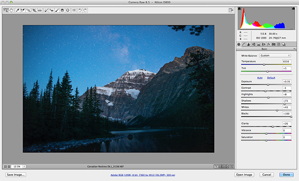 Adobe Photoshop Camera Raw has some powerful noise reduction tools