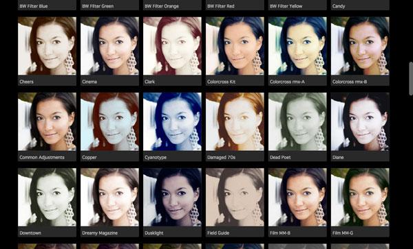 CameraBag for portraits