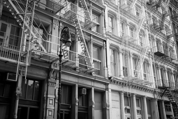 35mm - SoHo Fire Escapes.