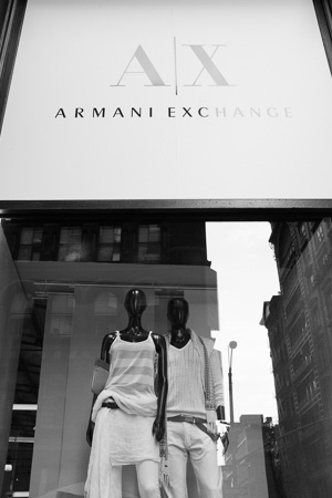 Armani Exchange, SoHo.