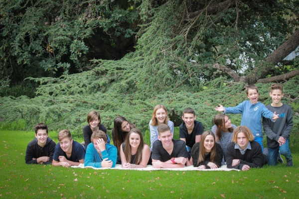 Image C group on lawn front