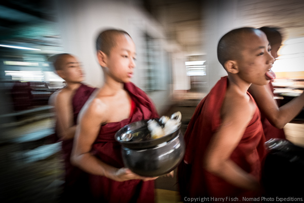 Monks  before lunch