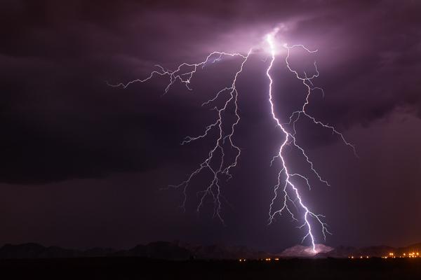 Best settings for photographing lightning