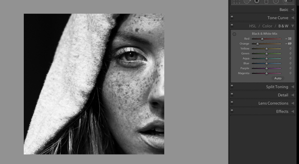How to Make Freckles POP or Disappear in Lightroom