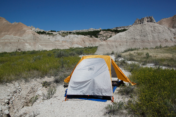 hiking, backpacking, Badlands, tent, camping, travel photography, Tamron18-270mm