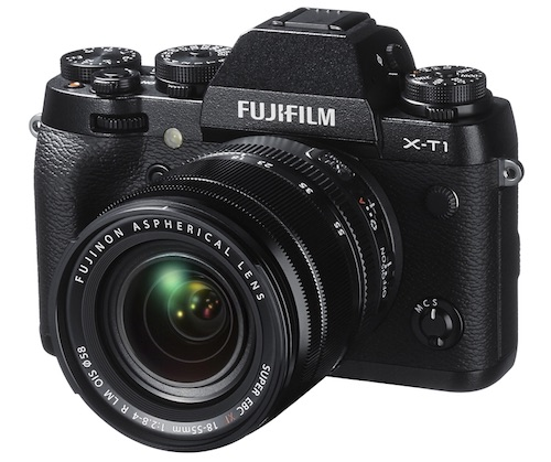 The mirrorless Fuji XT1 uses an APS-C size sensor but is much smaller than traditional DSLRs, making it a compelling option for photographers who value portability along with excellent image quality.