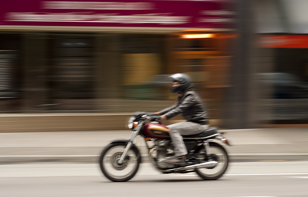 A panning shot creates a very unique sense of movement