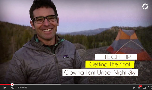 How to Photograph a Tent and the Night Sky