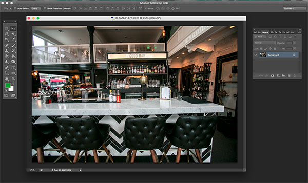 Photoshop Adaptive wide angle filter correction