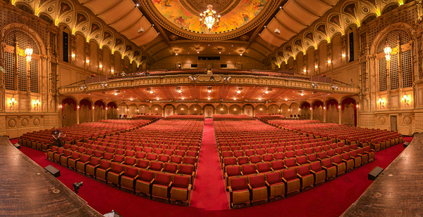 5 shot photo stitched image of the Orpheum Theatre, Vancouver BC