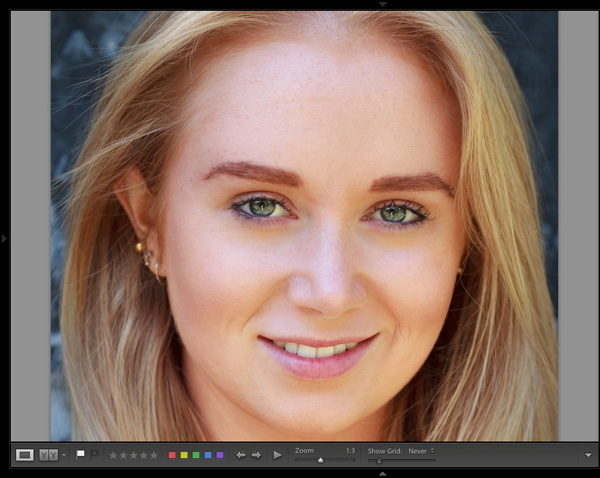 Portrait retouching Lightroom