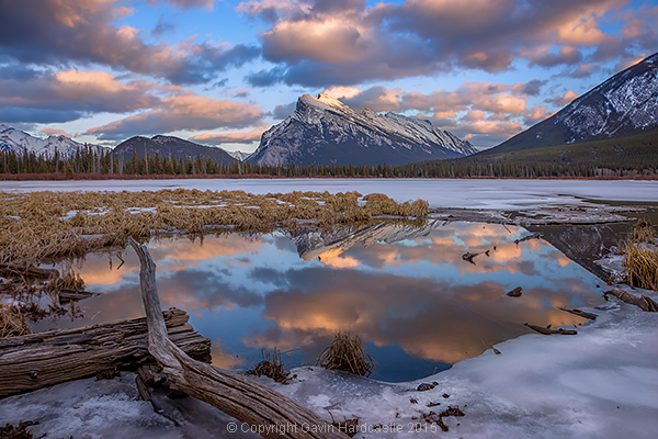 Vermillion Lakes, Banff - Mirror World by Gavin Hardcastle