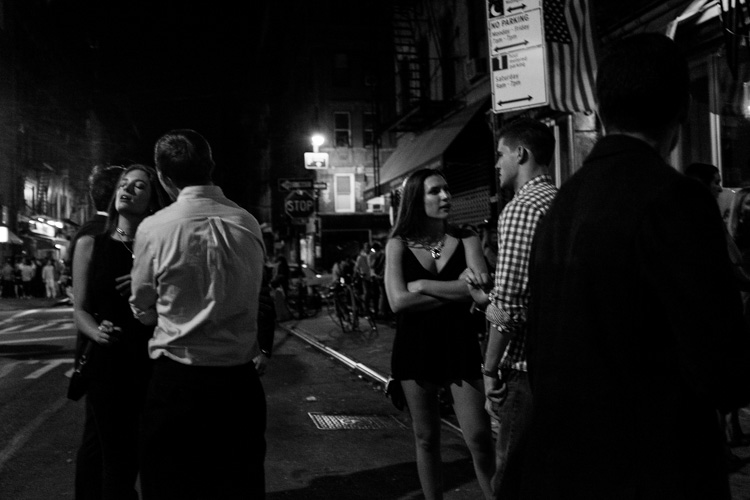 Image: Nightlife Street Scene, NYC.