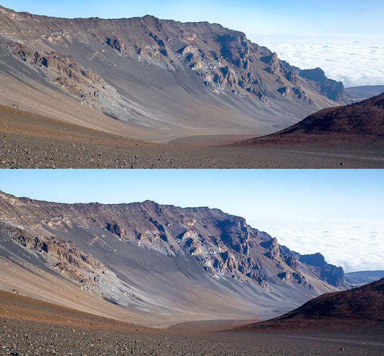 High pass sharpening filter landscape photography
