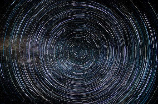 Star trails via HM technique