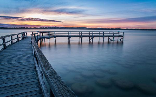 Salt Lake Sunset at Mandurah