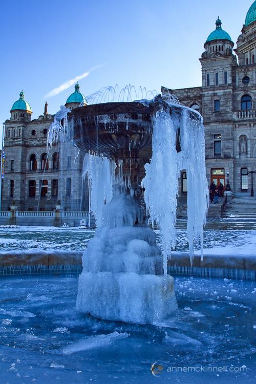 Frozen Fountain by Anne McKinnell