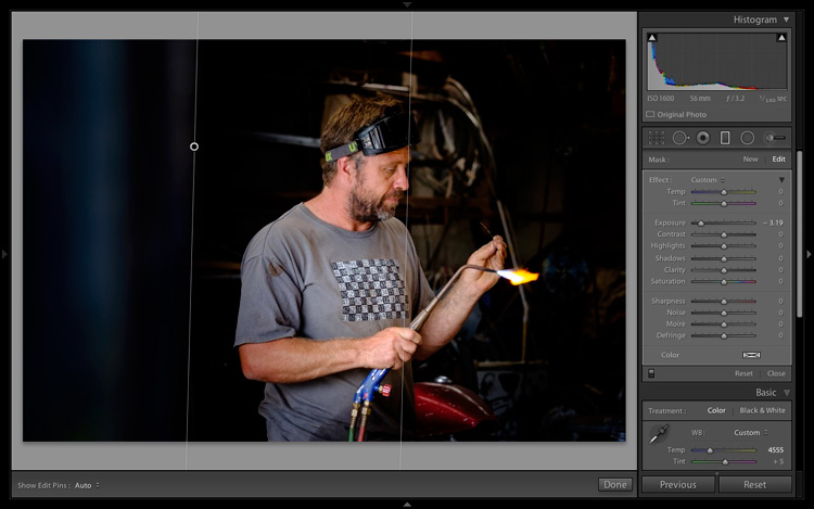 Isolating the subject in Lightroom