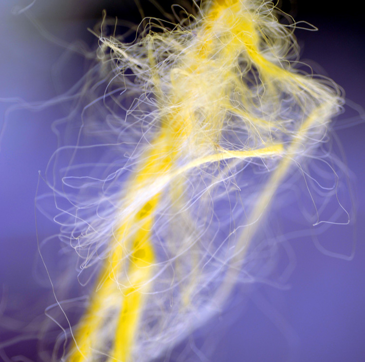 Frayed rope abstract