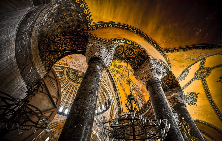 This is my own image - by Darlene Hildebrandt. Hagia Sophia in Istanbul. A fascinating history this place has had!