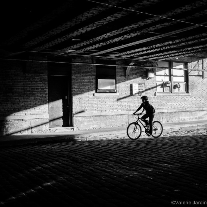 Some elements, such as bicycles, make for more interesting silhouettes.