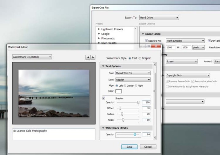 How to Watermark Your Images Using Lightroom and Photoshop CC