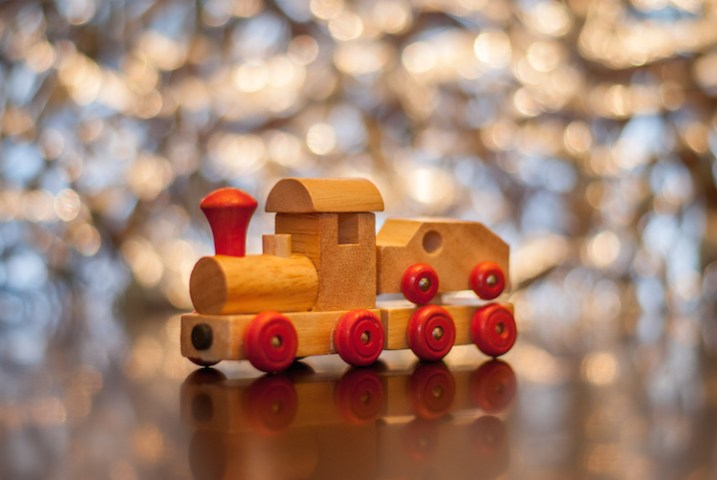 A toy train, seen in a whole new light.