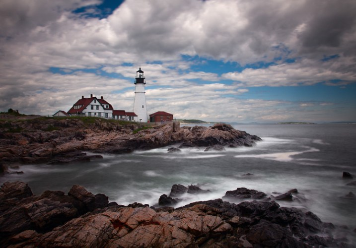 Seascape features example -  Portland Head Light