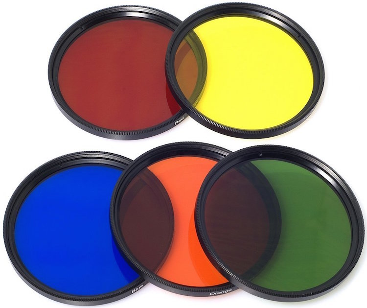 A collection of color filters that can be quite useful in black and white photography.