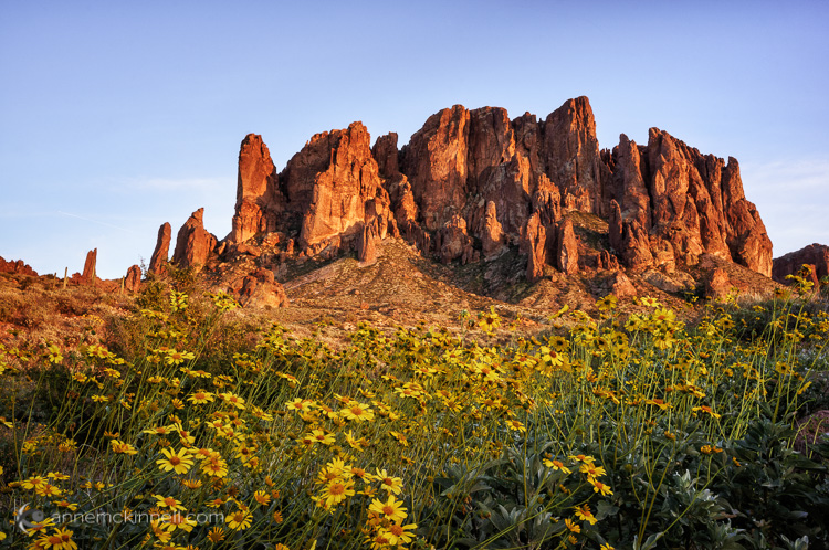 Superstition Mountains by Anne McKinnell