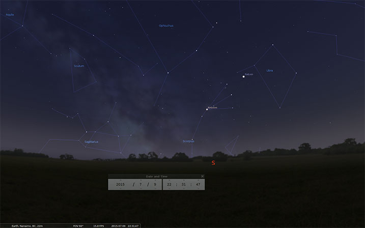 Milky Way Photography Tutorial - Stellarium