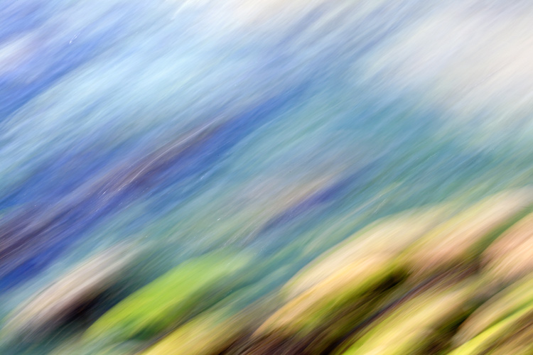 intentional camera movement abstract