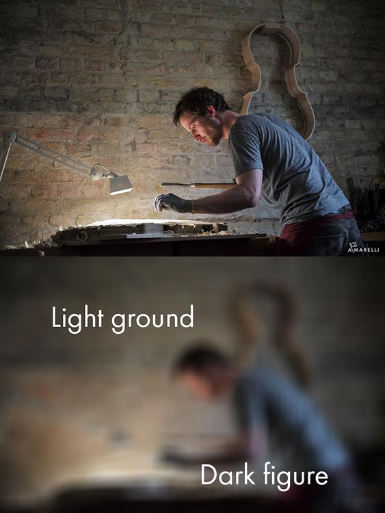 4 Dark figure on a light ground