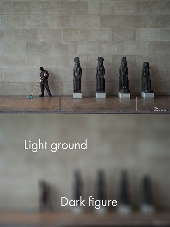 8 Dark figure on a light ground