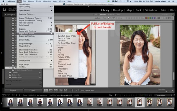 The What, Why, and How of Using Lightroom Export Presets