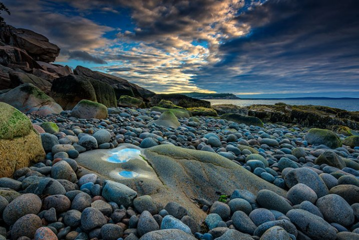 Boulder-Beach-Maine, landscape photography, camera bags, backpack, travel, photography, bags, gear