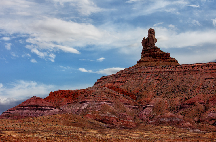 Photo of Monument Valley: Example of sky enhancement with Lightroom.