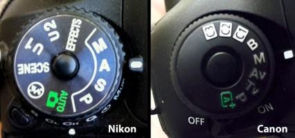 Nikon-Canon-режим-Dail