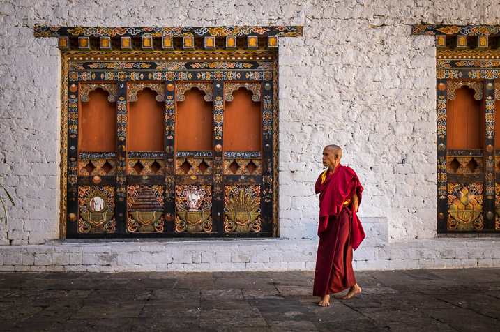 Monk in the Punakha Dzong