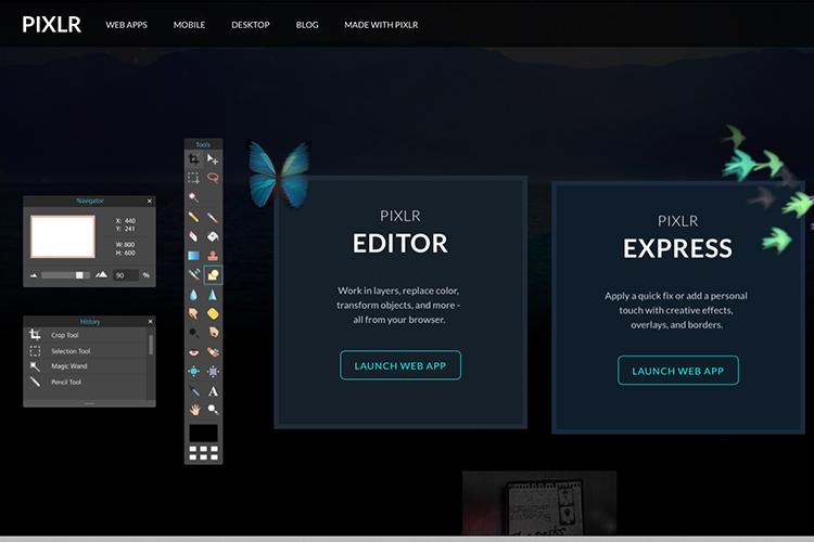 Pixlr-web-based-launch-screen