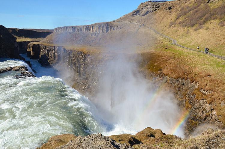 Iceland Gulfoss rainbows 750 px