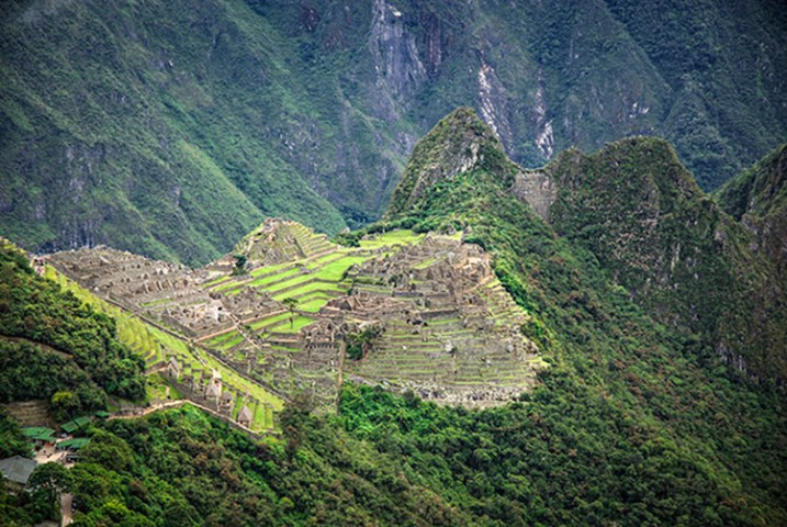 A different vista of Machu Picchu.
