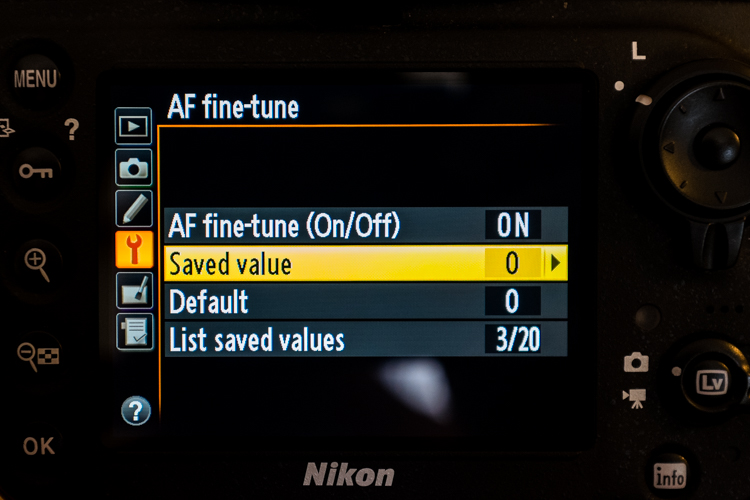 Using Nikon Auto Focus Tune