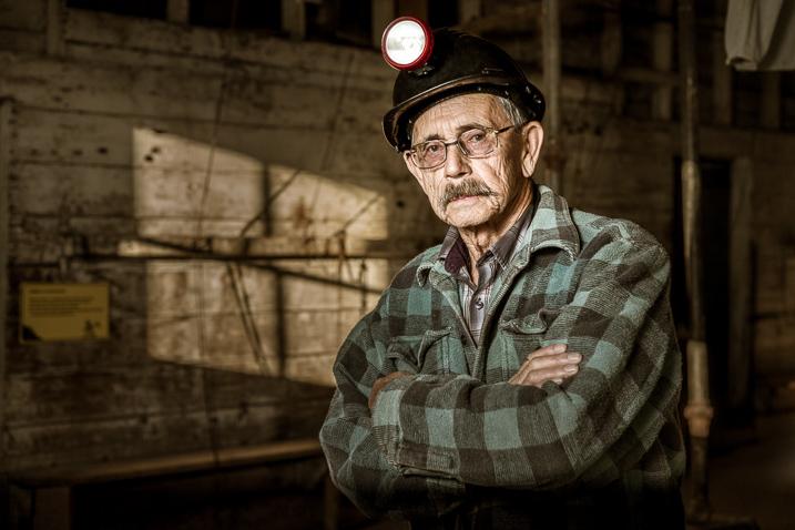 hard light portrait miner