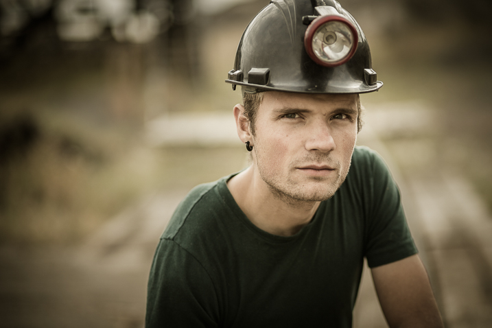 soft light miner portrait