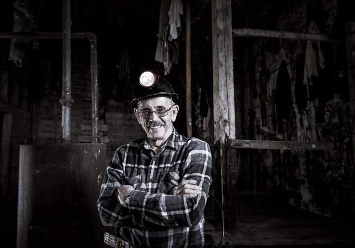 man in a mine